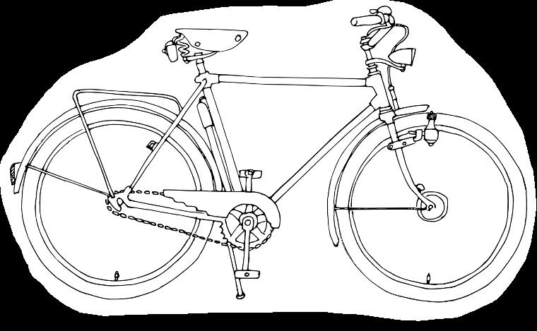 Schematisches Fahrrad